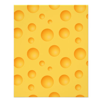 Yellow Cheese Pattern Flyer