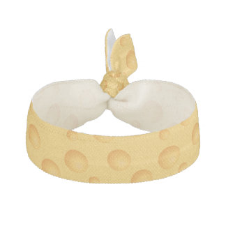 Yellow Cheese Pattern Hair Tie