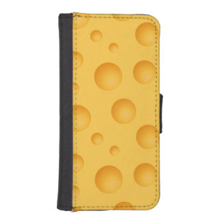 Yellow Cheese Pattern iPhone SE/5/5s Wallet Case
