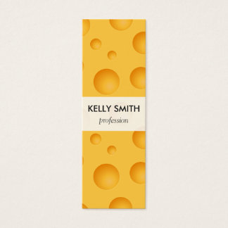 Yellow Cheese Pattern Mini Business Card