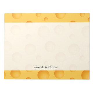 Yellow Cheese Pattern Notepad