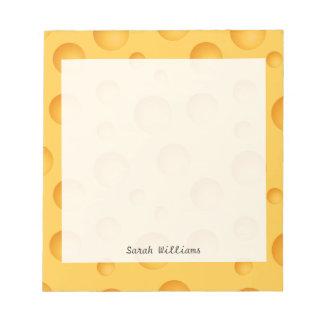 Yellow Cheese Pattern Notepads