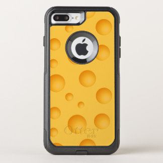 Yellow Cheese Pattern OtterBox Commuter iPhone 8 Plus/7 Plus Case