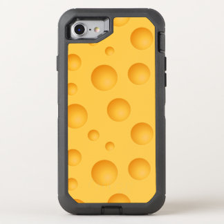 Yellow Cheese Pattern OtterBox Defender iPhone 8/7 Case