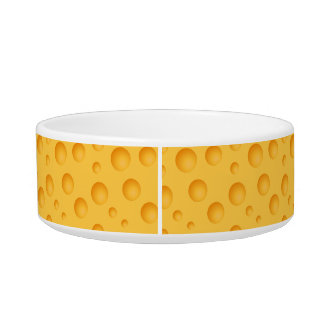 Yellow Cheese Pattern Pet Water Bowl