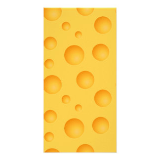 Yellow Cheese Pattern Picture Card