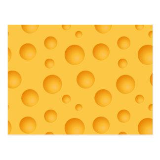 Yellow Cheese Pattern Postcard