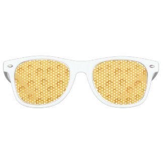 Yellow Cheese Pattern Retro Sunglasses