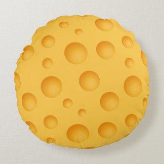 Yellow Cheese Pattern Round Pillow