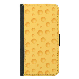 Yellow Cheese Pattern Samsung Galaxy S5 Wallet Case
