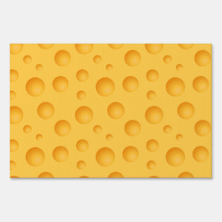 Yellow Cheese Pattern Sign