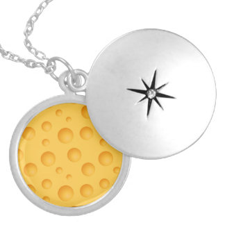 Yellow Cheese Pattern Silver Plated Necklace