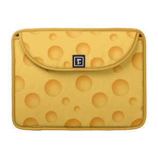 Yellow Cheese Pattern Sleeve For MacBooks