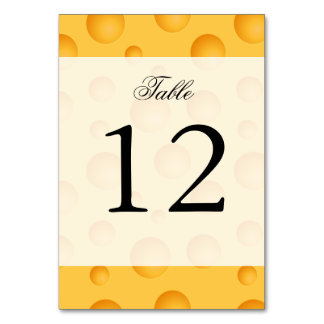 Yellow Cheese Pattern Table Card