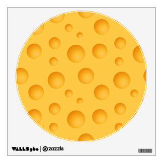 Yellow Cheese Pattern Wall Sticker