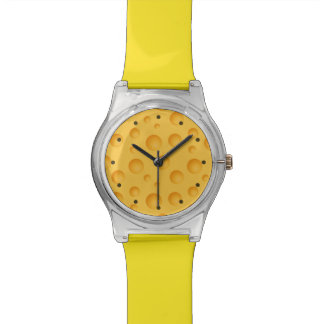 Yellow Cheese Pattern Watches