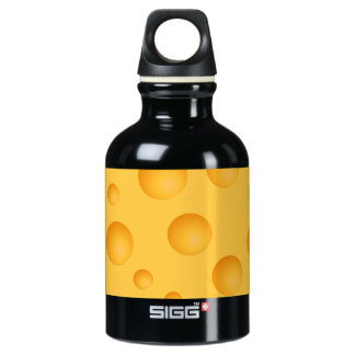 Yellow Cheese Pattern Water Bottle