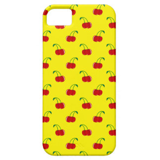 Yellow cherry pattern case for the iPhone 5