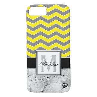 Yellow Chevron and Marble Monongram Mobile Case-Mate iPhone Case