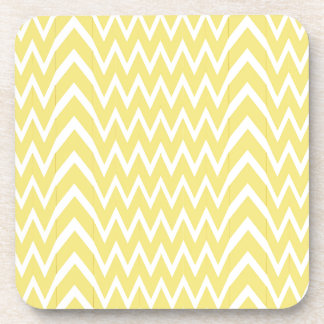 Yellow Chevron Illusion Coaster