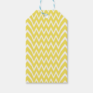 Yellow Chevron Illusion Gift Tags