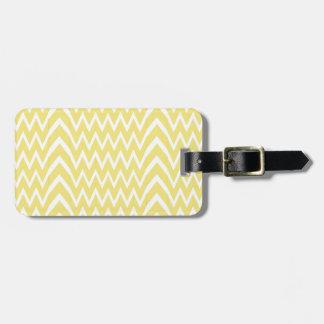 Yellow Chevron Illusion Luggage Tag