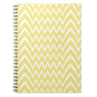 Yellow Chevron Illusion Notebooks