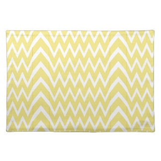 Yellow Chevron Illusion Placemat