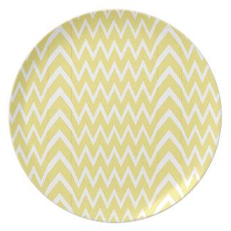 Yellow Chevron Illusion Plate