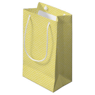 Yellow Chevron Illusion Small Gift Bag