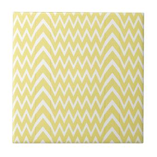 Yellow Chevron Illusion Tile