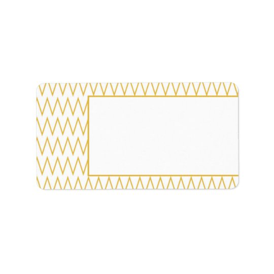 Yellow Chevron Pattern Blank Address Labels