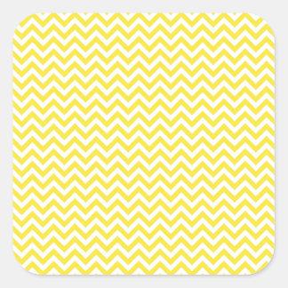 Yellow Chevron Square Sticker