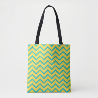 Yellow Chevron Trendy Tote Bag