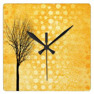 Yellow Chic Clock