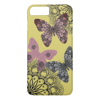 Yellow Chic Floral Butterfly i Phone Case