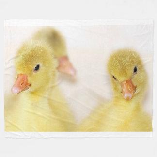 Yellow Chicks on Fleece Blanket