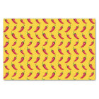 Yellow chili peppers pattern tissue paper