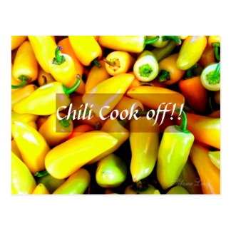 Yellow Chillies Postcard