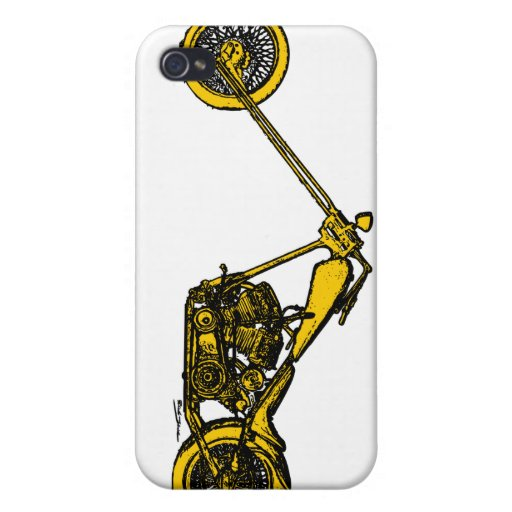 Yellow Chopper Style Case For iPhone 4