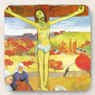Yellow Christ 1889 Coaster