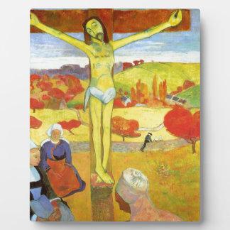 Yellow Christ 1889 Plaque