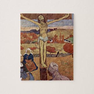 Yellow Christ by Paul Gauguin, Vintage Fine Art Jigsaw Puzzle