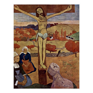 Yellow Christ by Paul Gauguin, Vintage Fine Art Poster