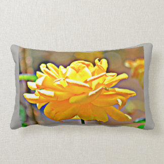 Yellow Chromatic Rose Poly Pillow