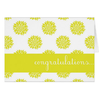 Yellow Chrysanthemum Floral Congratulations Card