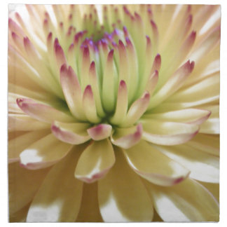 Yellow Chrysanthemum Flower Mums Flowers Photo Napkin