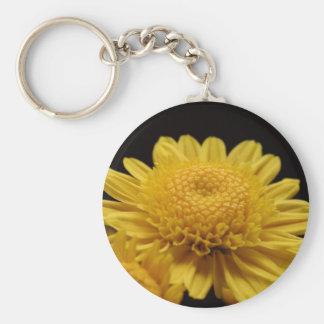 Yellow Chrysanthemum Keychain