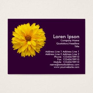 Yellow Chrysanthemum - Purple Business Card
