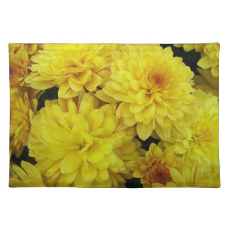 Yellow Chrysanthemums Floral Placemat